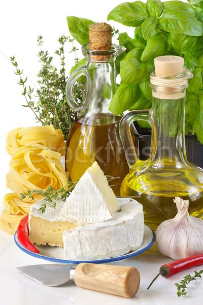 İtalyan gıda lezzetli beyaz sağlık arka plan mutfak Stok fotoğraf © lidante