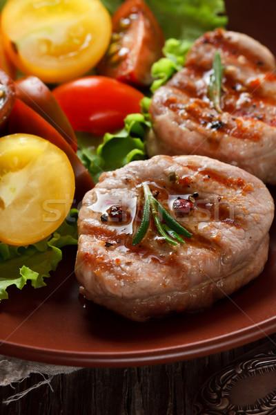 ızgara sebze salata gıda restoran akşam yemeği Stok fotoğraf © lidante