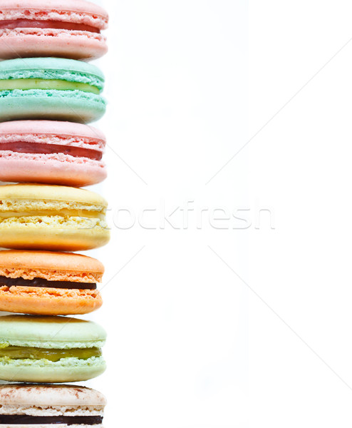 Macarons frescos blanco espacio de la copia amor Foto stock © lidante