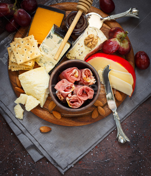 Best cheese platter. Stock photo © lidante