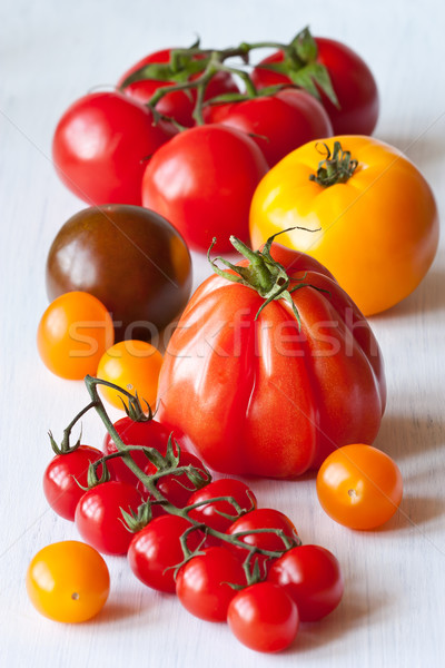 Varied types of tomatoes. Stock photo © lidante