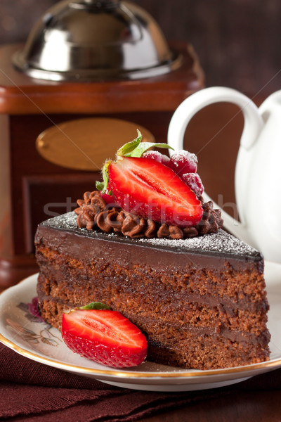 Chocolate cake. Stock photo © lidante