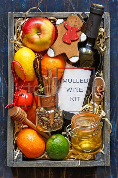 Mulled wine kit Stock photo © lidante