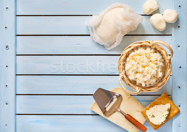 Fresh dairy products. Stock photo © lidante