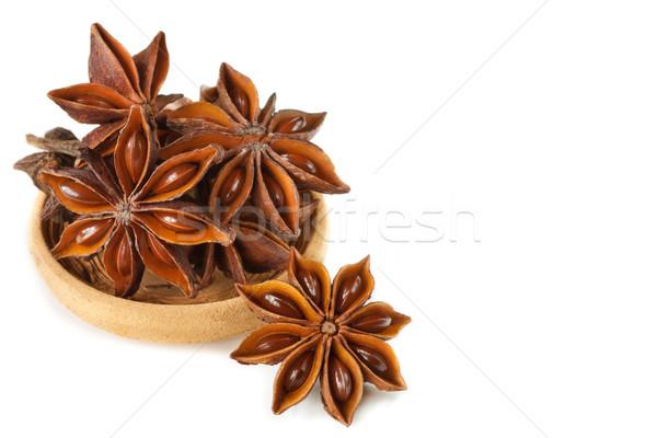 Estrela anis tempero grupo cerâmico tigela Foto stock © lidante