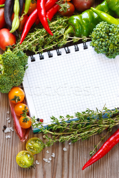 Open notebook and harvest. Stock photo © lidante