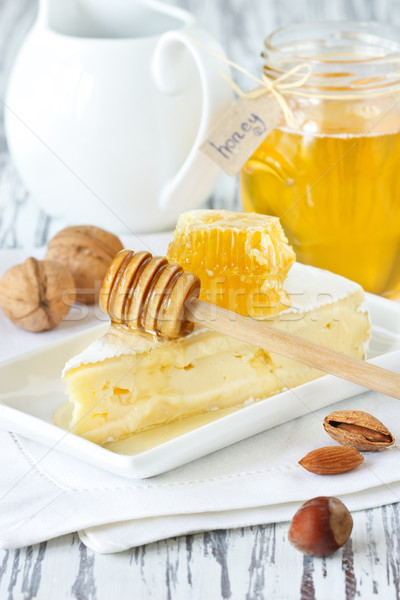 Brie and honey. Stock photo © lidante