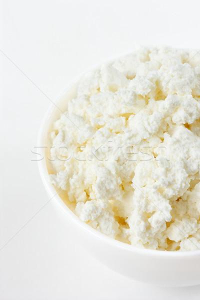 Süzme peynir ev yapımı beyaz yay gıda sağlık Stok fotoğraf © lidante