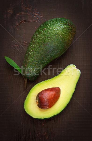 Avokádó friss érett sötét étel természet Stock fotó © lidante