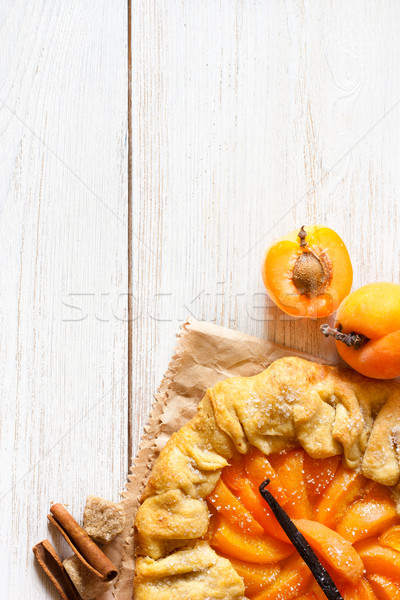 абрикос пирог Sweet ваниль копия пространства Сток-фото © lidante