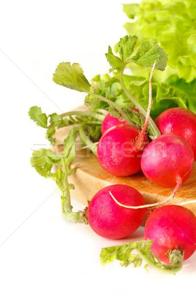 Dieta frescos rojo rábano hoja Foto stock © lidante