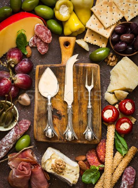 Cheese platter. Antipasti. Stock photo © lidante