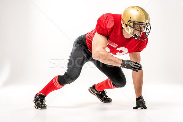 Football player in protective sportswear Stock photo © LightFieldStudios