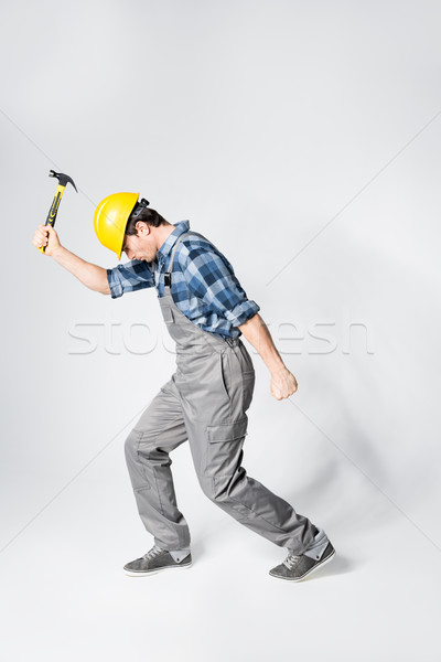 Professional workman in hard hat Stock photo © LightFieldStudios