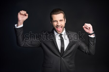 Young handsome businessman Stock photo © LightFieldStudios