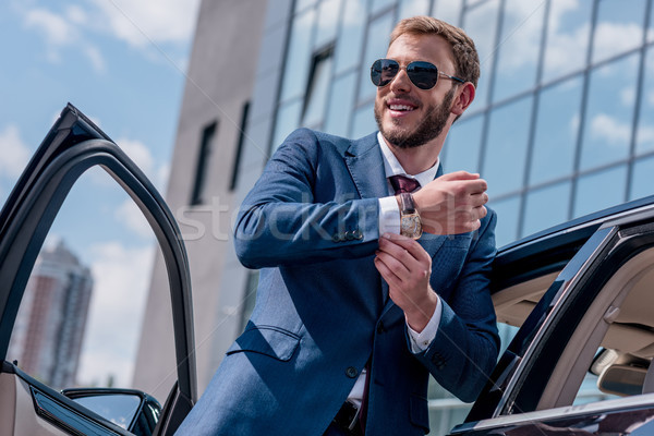 stylish businessman at car Stock photo © LightFieldStudios