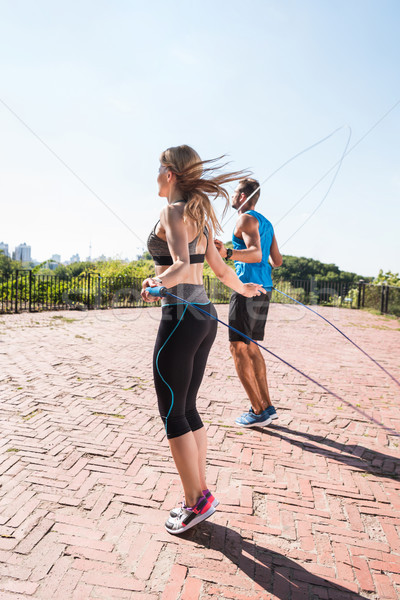 Spor çift atlama halatlar Stok fotoğraf © LightFieldStudios