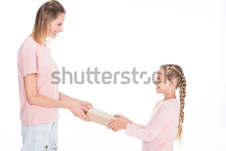 mother and daughter with gift box  Stock photo © LightFieldStudios
