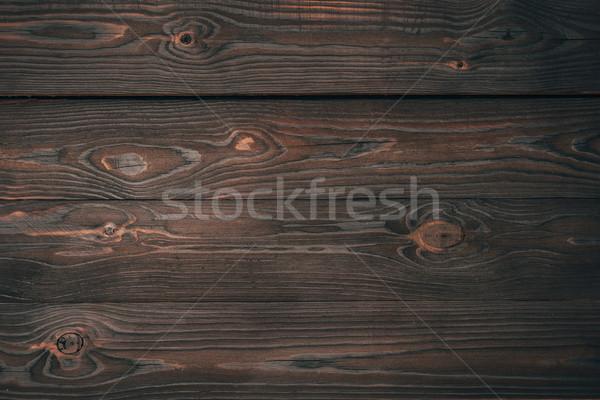 top view of dark wooden planks, wooden background  Stock photo © LightFieldStudios