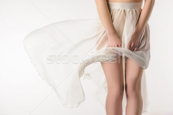 мнение чувственный девушки прозрачный юбка Сток-фото © LightFieldStudios