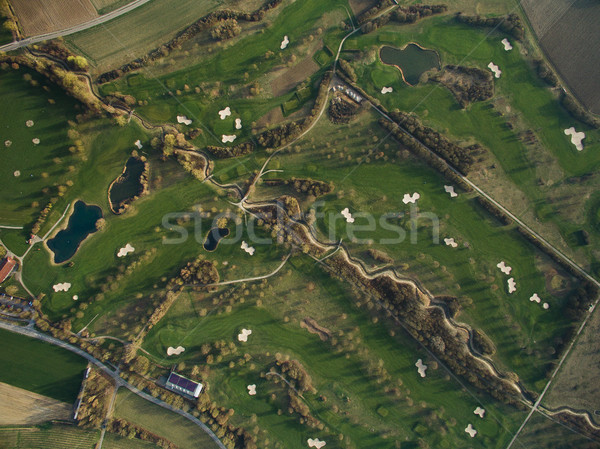 Aerial view of majestic landscape with green hills and ponds, Germany Stock photo © LightFieldStudios