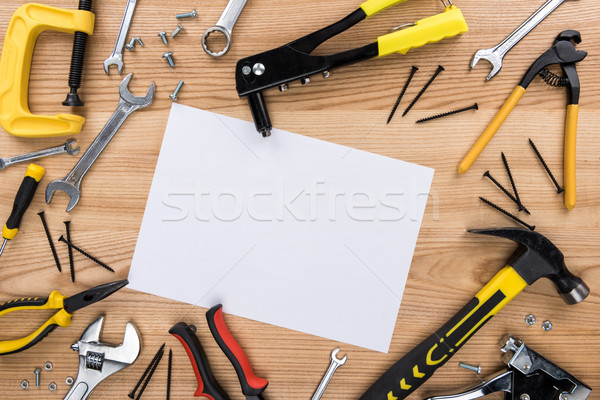 reparement tools and paper Stock photo © LightFieldStudios
