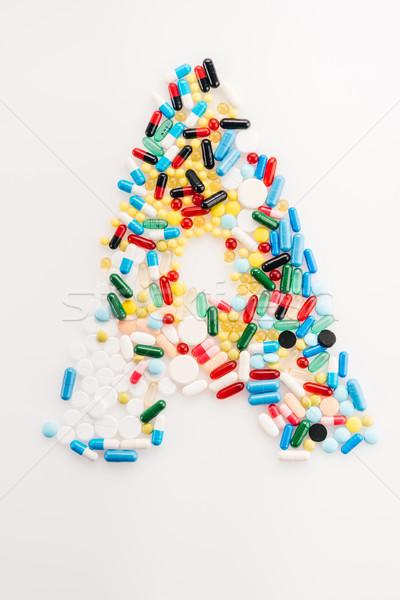 Top мнение письме медицинской таблетки капсулы Сток-фото © LightFieldStudios
