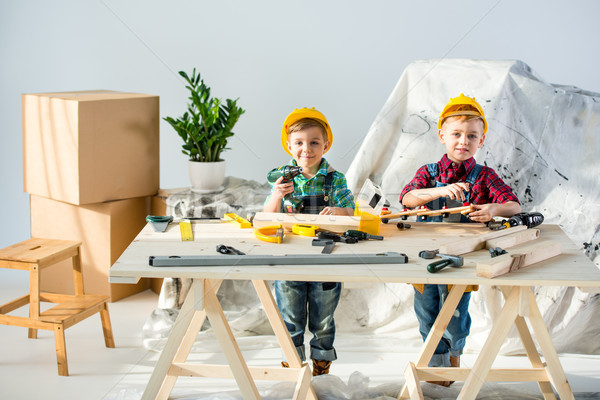 Little boys with tools Stock photo © LightFieldStudios