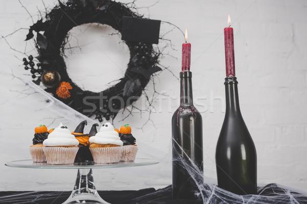 Zdjęcia stock: Halloween · dekoracje · palenie
