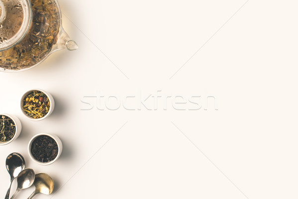 dry herbs and herbal tea  Stock photo © LightFieldStudios