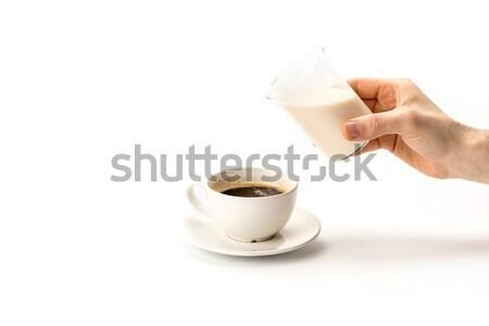 Copo chá medicinal mãos tiro pessoa Foto stock © LightFieldStudios