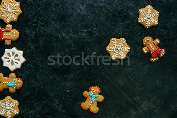 Házi készítésű cukormáz felső kilátás fekete copy space Stock fotó © LightFieldStudios