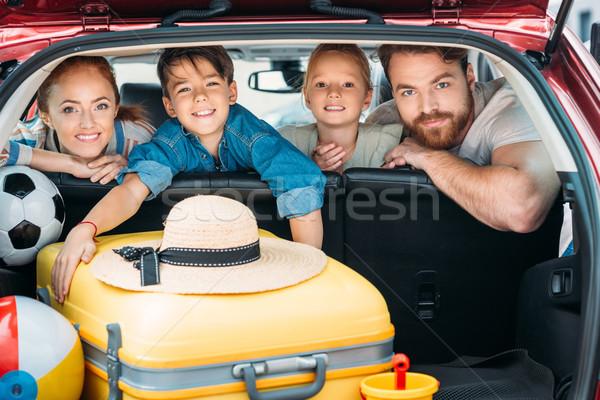 Familia listo coche viaje ninos belleza Foto stock © LightFieldStudios