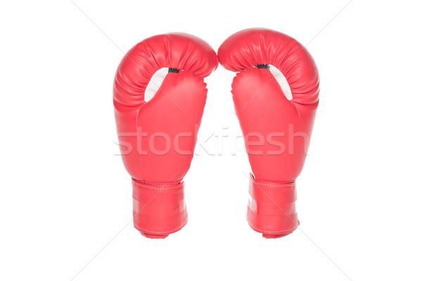 red boxing gloves Stock photo © LightFieldStudios