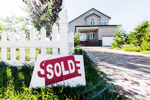 house with sign sold Stock photo © LightFieldStudios