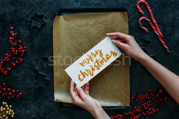 merry christmas Stock photo © LightFieldStudios
