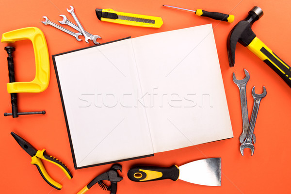 open notebook and tools Stock photo © LightFieldStudios