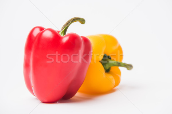 red and yellow fresh bell peppers, on white background   Stock photo © LightFieldStudios