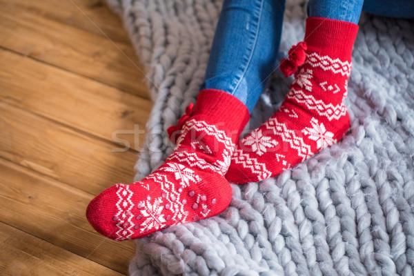 Female feet in socks Stock photo © LightFieldStudios