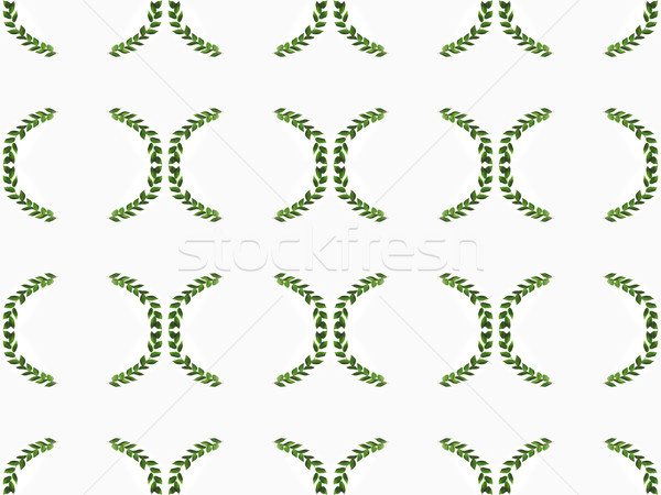 arranged green branches with leaves Stock photo © LightFieldStudios