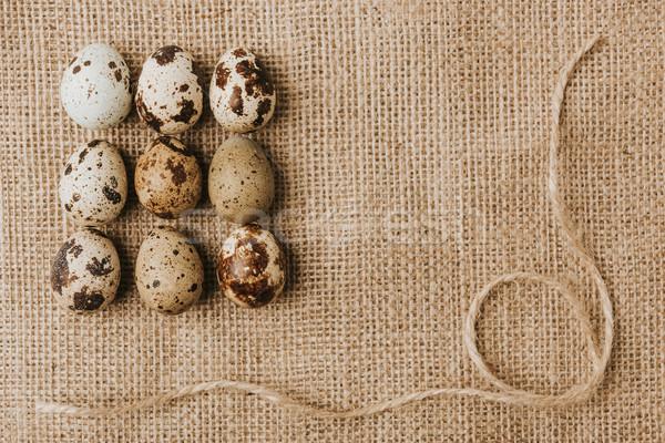 Yumurta halat arka plan kahvaltı Stok fotoğraf © LightFieldStudios