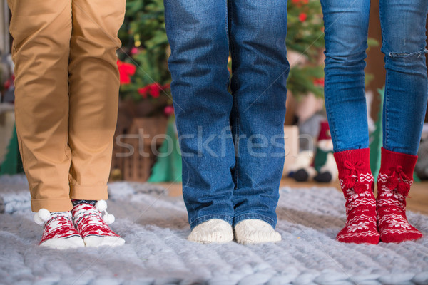 Vrouwelijke voeten gebreid sokken Stockfoto © LightFieldStudios