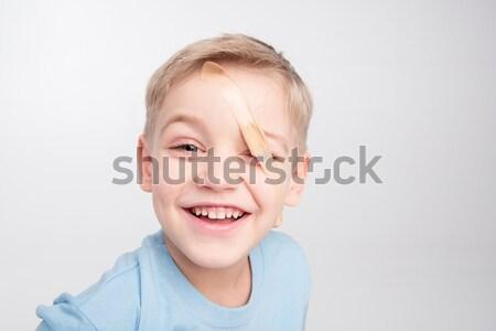 少年 パッチ 眼 かわいい 見える ストックフォト © LightFieldStudios