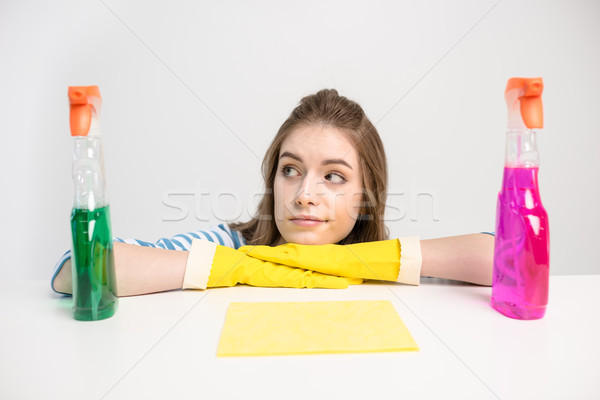 Woman with spray bottles Stock photo © LightFieldStudios