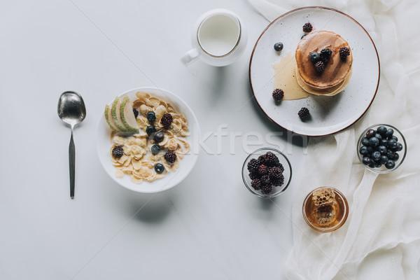 Top мнение свежие здорового вкусный завтрак Сток-фото © LightFieldStudios