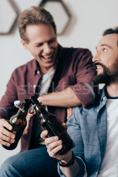 men drinking beer Stock photo © LightFieldStudios