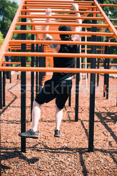 Man sport grond achteraanzicht sportkleding Stockfoto © LightFieldStudios