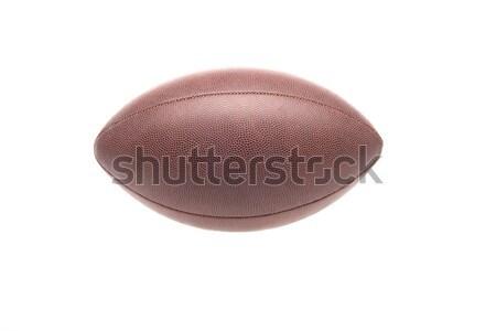 Rugby ball shot jeden odizolowany biały Zdjęcia stock © LightFieldStudios