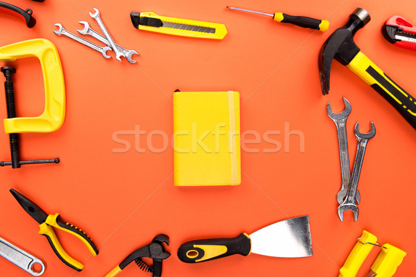 reparement tools and notebook Stock photo © LightFieldStudios