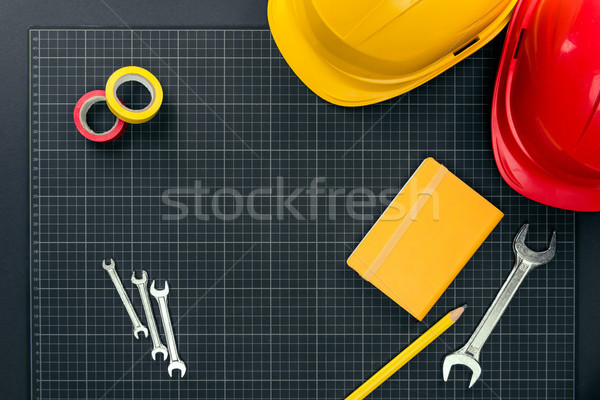 Tools grafiek papier top shot Stockfoto © LightFieldStudios